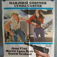 Cine: JUGANDO CON LA MUERTE. MARJORIE GORTNER, LYNDA CARTER. AÑO 1980. POSTER ORIGINAL. Lote 210752389