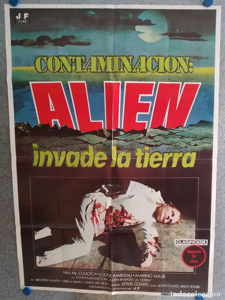 CONTAMINACIÓN (ALIEN INVADE LA TIERRA) GISELA HAHN, IAN MCCULLOCH, AÑO 1980. POSTER ORIGINAL (Cine - Posters y Carteles - Ciencia Ficción)