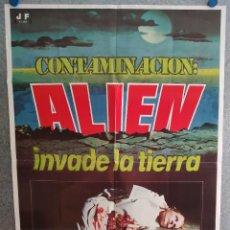 Cine: CONTAMINACIÓN (ALIEN INVADE LA TIERRA) GISELA HAHN, IAN MCCULLOCH, AÑO 1980. POSTER ORIGINAL. Lote 210754924