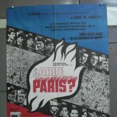 Cine: CDO 3926 ARDE PARIS BELMONDO DELON DOUGLAS POSTER ORIGINAL 70X100 ESTRENO. Lote 210772619