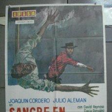Cine: CDO 3945 SANGRE EN RIO BRAVO JOAQUIN CORDERO JULIO ALEMAN POSTER ORIGINAL 70X100 ESTRENO. Lote 210820850