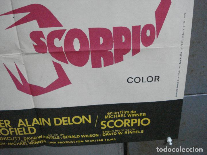Cine: CDO 3956 SCORPIO BURT LANCASTER ALAIN DELON POSTER ORIGINAL 70X100 ESTRENO - Foto 9 - 210832681