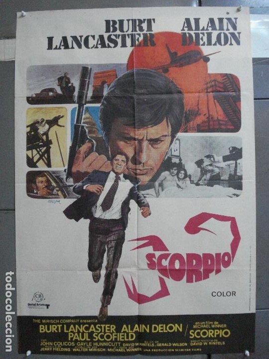 CDO 3956 SCORPIO BURT LANCASTER ALAIN DELON POSTER ORIGINAL 70X100 ESTRENO (Cine - Posters y Carteles - Acción)
