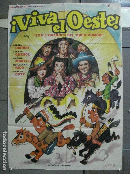 CDO 3958 CDO 3958 VIVA EL OESTE RAFAEL CARRET CINE ARGENTINO POSTER ORIGINAL 70X100 ESTRENO (Cine - Posters y Carteles - Westerns)
