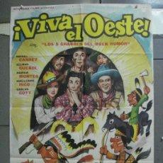 Cine: CDO 3958 CDO 3958 VIVA EL OESTE RAFAEL CARRET CINE ARGENTINO POSTER ORIGINAL 70X100 ESTRENO. Lote 210833342