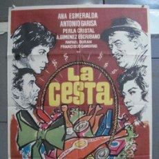 Cine: CDO 3961 LA CESTA ANA ESMERALDA ANOTNIO GARISA LINA MORGAN MAC POSTER ORIGINAL 70X100 ESTRENO. Lote 210834077