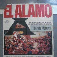 Cine: CDO 3962 EL ALAMO JOHN WAYNE POSTER ORIGINAL 70X100 ESPAÑOL R-71. Lote 210834399