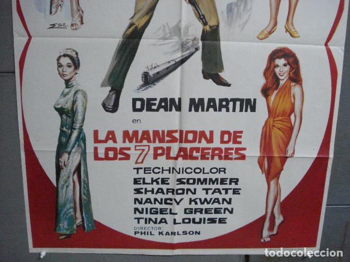 Cine: CDO 3964 LA MANSION DE LOS 7 PLACERES DEAN MARTIN MATT HELM POSTER ORIGINAL 70X100 ESTRENO - Foto 3 - 210835320