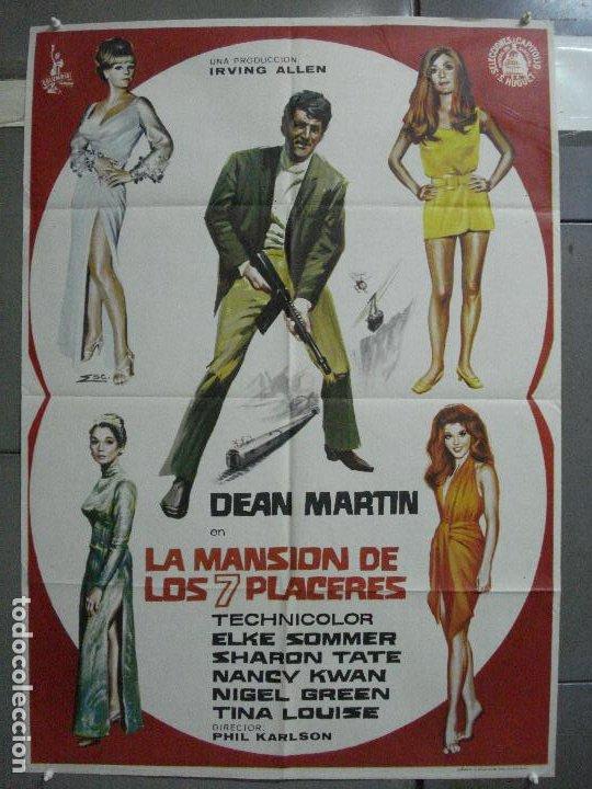 CDO 3964 LA MANSION DE LOS 7 PLACERES DEAN MARTIN MATT HELM POSTER ORIGINAL 70X100 ESTRENO (Cine - Posters y Carteles - Acción)