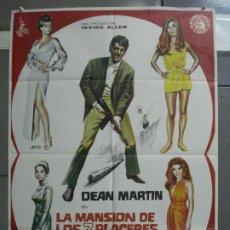 Cine: CDO 3964 LA MANSION DE LOS 7 PLACERES DEAN MARTIN MATT HELM POSTER ORIGINAL 70X100 ESTRENO. Lote 210835320