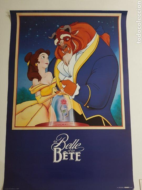 POSTER LA BELLA Y LA BESTIA DISNEY ,SCANDECOR 1992 (Cine - Posters y Carteles - Infantil)