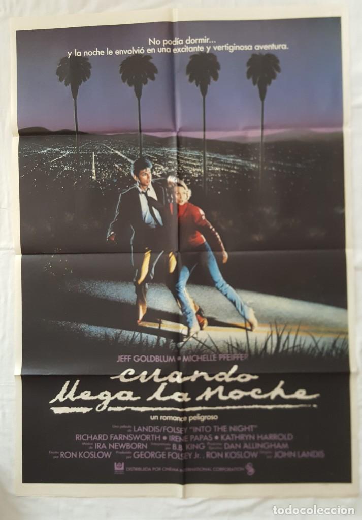 PÓSTER ORIGINAL CUANDO LLEGA LA NOCHE (Cine - Posters y Carteles - Suspense)