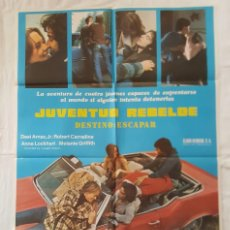 Cine: PÓSTER ORIGINAL JUVENTUD REBELDE DESTINO: ESCAPAR. MELANIE GRIFFITH ELECTRIC LIGHT ORCHESTRA. Lote 210945162