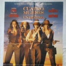 Cine: PÓSTER ORIGINAL CUATRO MUJERES Y UN DESTINO. Lote 210950270