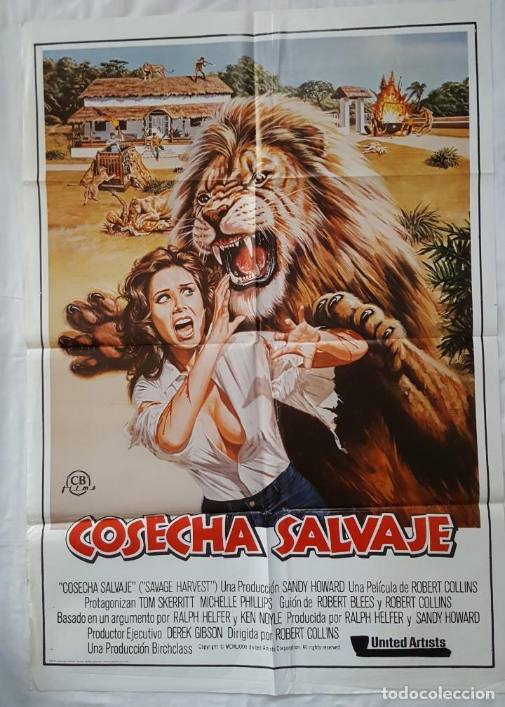 PÓSTER ORIGINAL COSECHA SALVAJE (Cine - Posters y Carteles - Bélicas)
