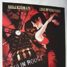 Cine: MOULIN ROUGE, CON NICOLE KIDMAN. PÓSTER 68,5 X 100 CMS. 2001.. Lote 211257351
