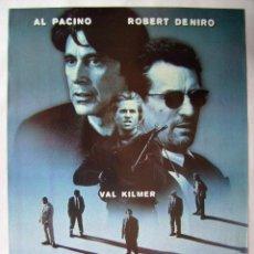 Cine: HEAT, CON ROBERT DE NIRO. PÓSTER 68 X 97 CMS. 1995.. Lote 211258241