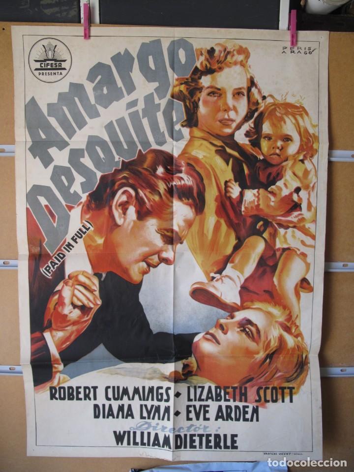 AMARGO DESQUITE (Cine - Posters y Carteles - Clasico Español)