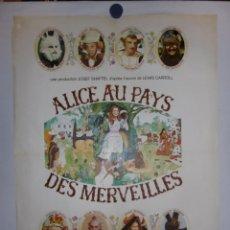 Cine: ALICIA AU PAYS DES MERVEILLES - 90 X 60 - OFFSET. Lote 211258377