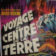 Cine: VOYAGE AU CENTRE DE LA TERRE - 160 X 120 - 1959 - LITOGRAFICO. Lote 211258516