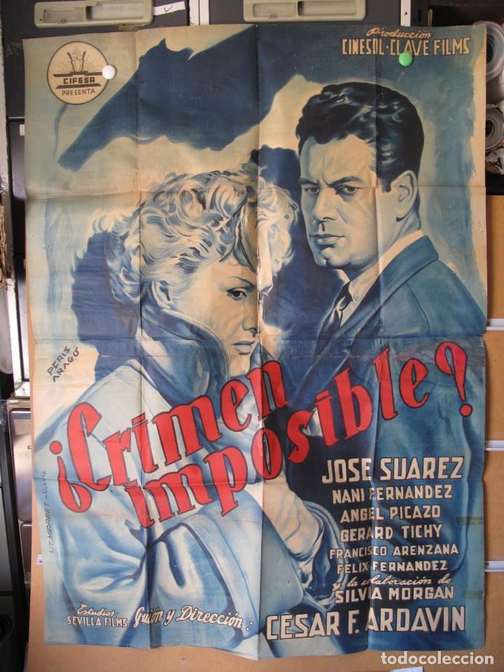 CRIMEN IMPOSIBLE 2 HOJAS 140X100 (Cine - Posters y Carteles - Clasico Español)