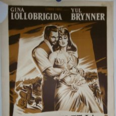 Cine: SALOMON ET LA REINE DE SABA - 90 X 60 - 1959 - LITOGRAFICO. Lote 211258639