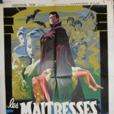 Cine: LES MAITRESSES DE DRACULA - 160 X 120 - 1960 - LITOGRAFICO. Lote 211258769