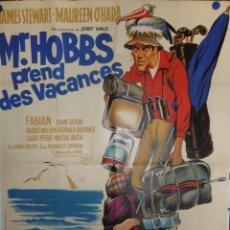 Cine: MR HOBBS PREND DES VACANCES - 160 X 120 - 1962 - LITOGRAFICO. Lote 211258906
