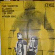 Cine: L'ILE DU DOCTEUR MOREAU - 200 X 120 - 1932 - OFFSET. Lote 211259015