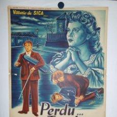 Cine: PERDU DANS LES TENEBRES - 90 X 60 - 1947 - LITOGRAFICO. Lote 211259149