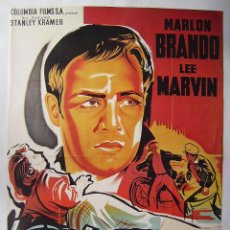 Cine: SALVAJE (L'EQUIPEE SAUVAJE), CON MARLON BRANDO. PÓSTER REPRODUCCIÓN FRANCESA 63 X 87 CMS.. Lote 211259232