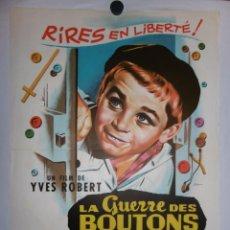 Cine: LA GUERRE DES BUTTONS - 90 X 60 - 1962 - LITOGRAFICO. Lote 211259344