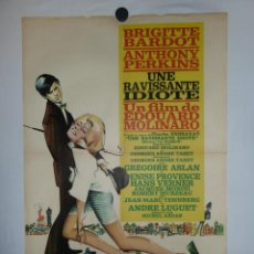 Cine: UNE RAVISSANTE IDIOTE - 90 X 50 - 1964 - LITOGRAFICO. Lote 211259412