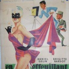 Cine: EN EFFEUILLANT LA MARGUERITE - 200 X 120 - 1956 - LITOGRAFICO. Lote 211259494
