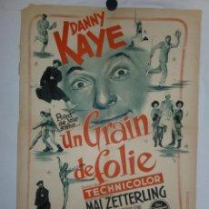 Cine: UN GRAIN DE FOLIE - 90 X 60 - 1954 - LITOGRAFICO. Lote 211259635