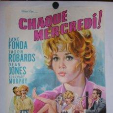 Cine: CHAQUE MERCREDI - 90 X 60 - 1966 - LITOGRAFICO. Lote 211259704