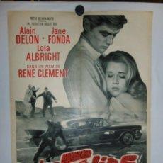 Cine: LES FELINS - 90 X 60 - 1964 - LITOGRAFICO. Lote 211259741