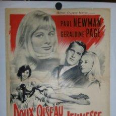 Cine: DOUX OISEAU DE JEUNESSE - 90 X 60 - 1962 - LITOGRAFICO. Lote 211259767