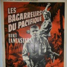 Cine: LES BAGARREURS DU PACIFIQUE - 160 X 120 - 1953 - LITOGRAFICO. Lote 211260185