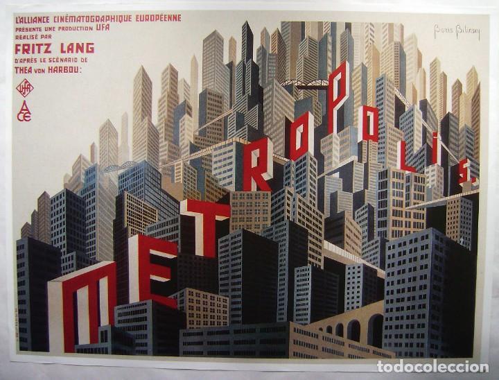 METRÓPOLIS, DE FRITZ LANG, PÓSTER REPRODUCCIÓN FRANCESA 69 X 92,5 CMS.. (Cine - Posters y Carteles - Ciencia Ficción)
