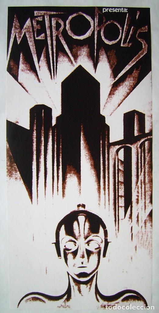 METRÓPOLIS, DE FRITZ LANG, PÓSTER REPRODUCCIÓN 33,5 X 71 CMS.. (Cine - Posters y Carteles - Ciencia Ficción)