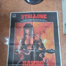 Cine: CARTEL DE PELICULA RAMBO ACORRALADO PARTE 2 SYLVESTER STALLONE AÑO 1985. Lote 211266815