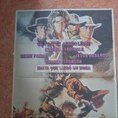 Cine: CARTEL DE PELÍCULA HASTA QUE LLEGÓ SU HORA AÑO 1981 HENRY FONDA CLAUDIA CARDINALE LEONE MORRICONE. Lote 211276172