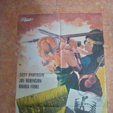 Cine: CARTEL DE PELÍCULA LAS GLADIADORAS 1971 SUSSY ANDERSEN. Lote 211276344
