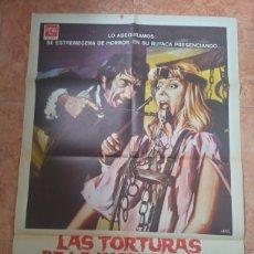 Cine: CARTEL DE PELÍCULA LAS TORTURAS DE LA INQUISICIÓN JANO HERBERT LOM. Lote 211276627