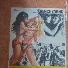 Cine: CARTEL DE PELÍCULA LAS AMAZONAS AÑO 1975 TERENCE YOUNG ALENA JOHNSTON SABINE SUN. Lote 211276844