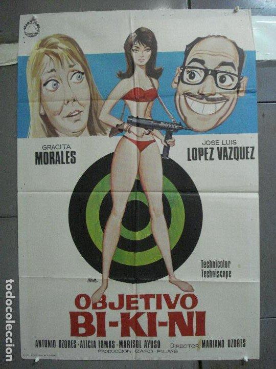 CDO 4003 OBJETIVO BIKINI LOPEZ VAZQUEZ GRACITA MORALES POSTER ORIGINAL 70X100 ESTRENO (Cine - Posters y Carteles - Clasico Español)