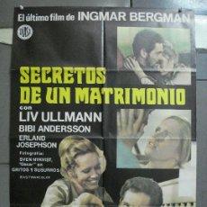 Cine: CDO 4015 SECRETOS DE UN MATRIMONIO INGMAR BERGMAN LIV ULLMAN POSTER ORIGINAL 70X100 ESTRENO. Lote 211413664