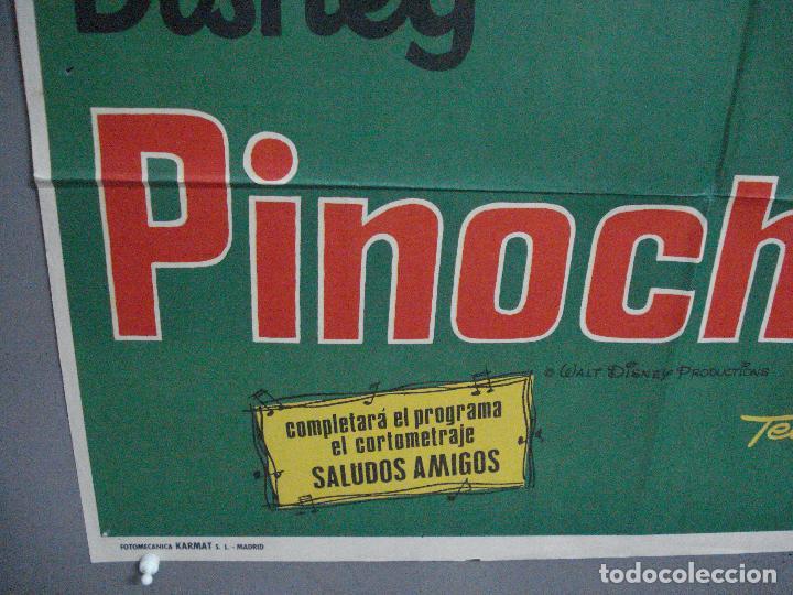 Cine: CDO 4020 PINOCHO PINOCCHIO WALT DISNEY POSTER ORIGINAL 70X100 ESPAÑOL R-74 - Foto 5 - 211416145