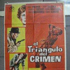 Cine: CDO 4021 EL TRIANGULO DEL CRIMEN LILLI PALMER SYLVA KOSCINA BRASSEUR POSTER ORIGINAL ESTRENO 70X100. Lote 211416802